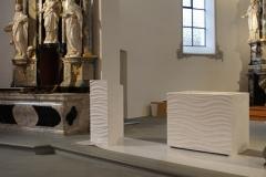 Johanneskirche Hohenrain - Altar und Ambo